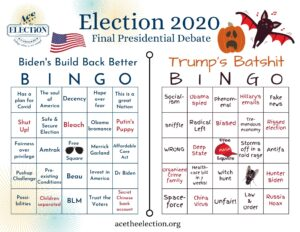 First presidential debate bingo