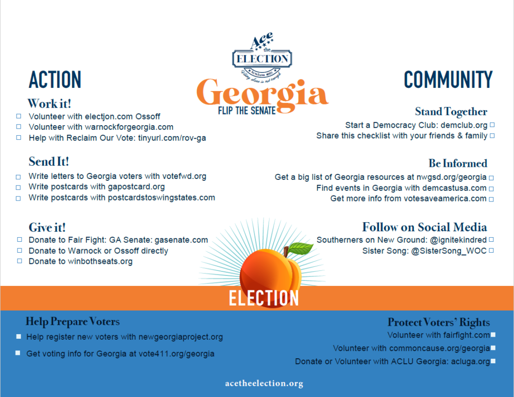Download a printable PDF of the Georgia Checklist